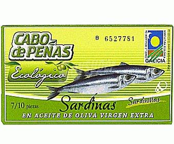 Cabo de Peñas Sardinas en aceite de oliva virgen extra ecológico Lata 60 g neto escurrido