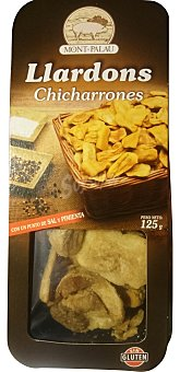 MONT-PALAU Llardons (chicharrones) Paquete de 125 g