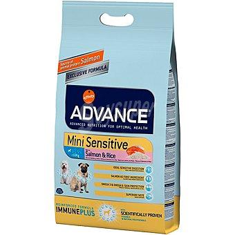 Advance Affinity Mini sensitive pienso de alta gama para perros adultos de raza pequeña bolsa 12 kg para estómagos sensibles rico en salmón y arroz Bolsa 12 kg
