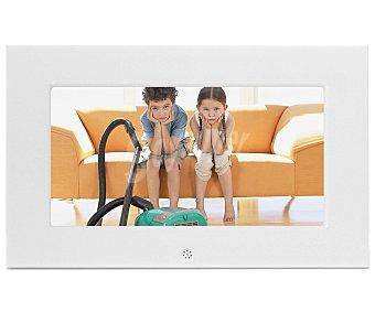 """BRAUN 701 Marco de fotos digital con panalla de 6.5"""", reloj, calencario, mando, color blanco"""