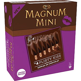 Magnum Frigo Mini bombón helado de tarta de chocolate Mini 5 Kisses Flirty estuche 300 ml 6 unidades
