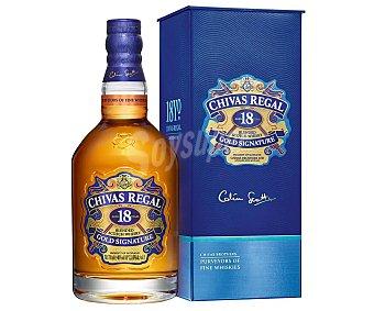 Chivas Regal Whisky blended escocés, con maduración de 18 años Botella de 70 cl