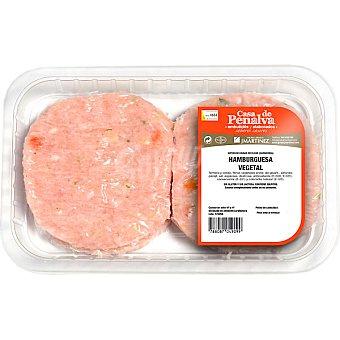 CASA DE PENALVA Hamburguesas de pollo con vegetales Bandeja 370 g (4 unidades)
