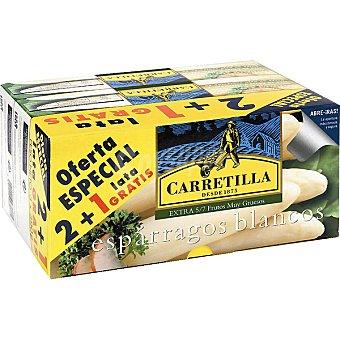 Carretilla Espárragos blancos muy gruesos 5-7 piezas neto escurrido + 1 gratis Pack 2 latas 250 g