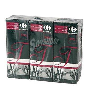 Carrefour Vino tinto minibrik Pack 3x20 cl