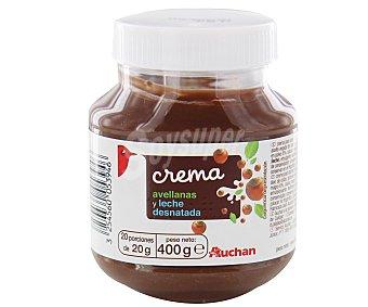 Auchan Crema de cacao con avellanas y leche desnatada 400 gr