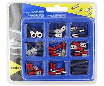 CARTEC Lote de 50 terminales de distinto tamaño y para diferentes secciones de cable 1 unidad