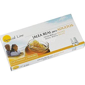 Special Line Jalea real para adultos con vitaminas y minerales estuche 10 ampollas