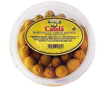 A. CATALÁ Aceituna manzanilla sabor anchoa Tarrina de 500 Gramos