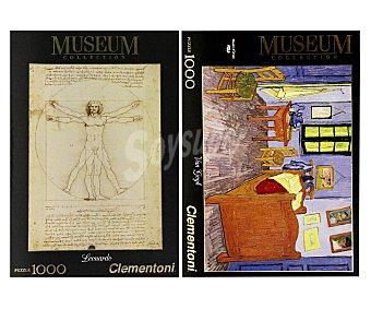 CLEMENTONI Puzzle de 1000 Piezas con Imagenes Grandes Obras Pictóricas 1 Unidad