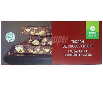 Intermón Oxfam Turrón de chocolate ecológico, 200 gramos