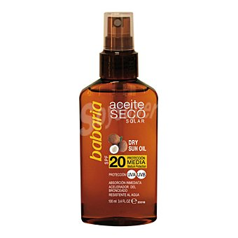 Babaria Aceite seco solar spray FP 20 100 ml