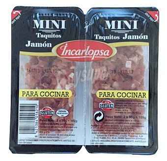 Incarlopsa Jamon curado taquitos mini 2u x 90 g