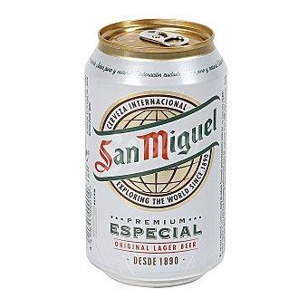 SAN MIGUEL Cerveza rubia nacional especial  lata 33 cl