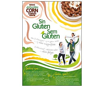 Nestlé Cereales corn flakes con chocolate, sin gluten,, 375 gramos