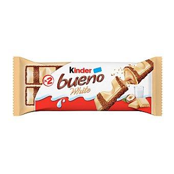 Kinder Bueno Barra cubierta de chocolate blanco y relleno cremoso Paquete 39 g