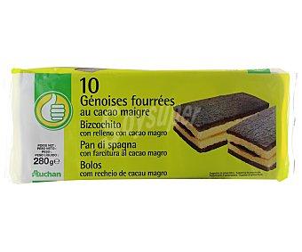 Productos Económicos Alcampo Bizcochito cacao 280 g