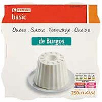 Eroski Basic Queso de Burgos Pack 4x62,5 g