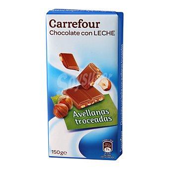 Carrefour Chocolate extrafino con leche y avellanas 150 g