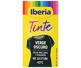 Iberia Tinte para ropa verde oscuro 40ºC sobres 2 ud