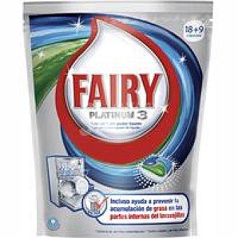 Fairy Lavavajillas Platinum 3 bolsa 18 dosis