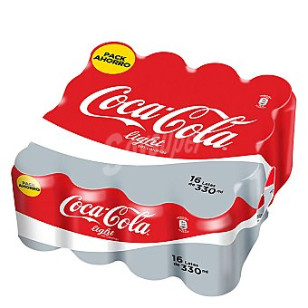 Coca-Cola Refresco de cola light Pack 16x33 cl