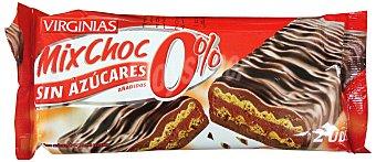 Virginias Barquillo chocolate mix choc sin azucar diet  Paquete 68 g (2 unidades)
