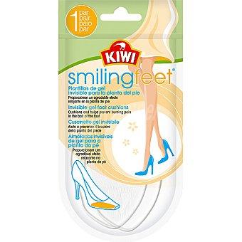 Kiwi Plantillas Smiling Feet almohadilla invisible de gel para la planta del pie Paquete 2 unidades
