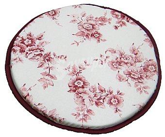 AUCHAN Cojín estampado para taburete, modelo Panama, color rosa 30x30 centímetros 1 Unidad