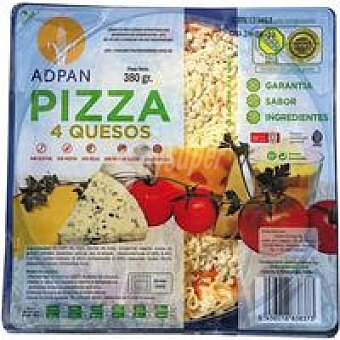 Adpan Pizza 4 quesos sin glutén Bandeja 380 g