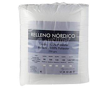 RELLENO NÓRDICO Edredón nórdico de microfibra 100% poliéster, densidad de 250 gramos/m², color blanco, 90 centímetros 1 unidad