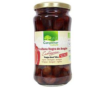 Campomar Nature Aceituna negra de aragon ecologica con hueso sabor natural 200 g