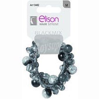ELISON Elástico perla black mix Pack 1 unid