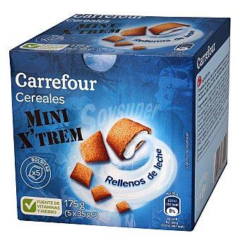 Carrefour Mini cereales rellenos de leche 175 g