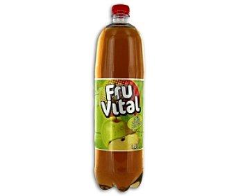 FRUVITAL Refresco de manzana sin gas Botella de 1,5 Litros