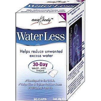 EASY BODY Comprimidos Water Less ayuda a reducir el exceso de agua 30 días cintura cadera muslos Envase 90 capsulas