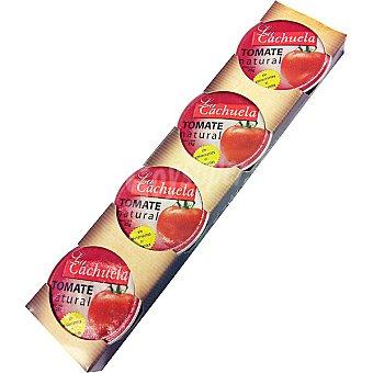 LA CACHUELA Tomate natura triturado pack 4 envases 25 g Pack 4 envases 25 g