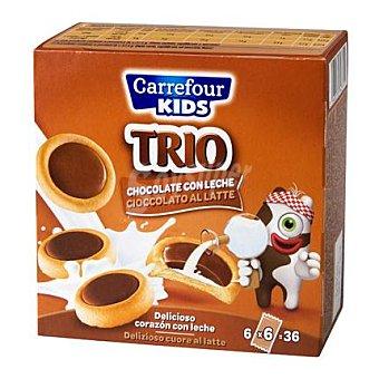 Carrefour Galletas Trio rellena de leche 225 g