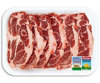 Auchan Producción Controlada Filetes de aguja de cerdo de Teruel 500 Gramos