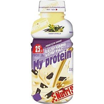 Nutrisport My Protein bebida con proteína de suero lácteo bajo aporte en hidratos de carbono y grasa sabor vainilla Botella 330 ml