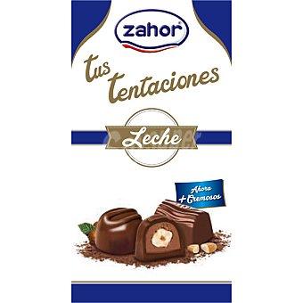 Zahor Gran selección bombones surtidos de chocolate con leche noir y licor bolsa 120 g Bolsa 120 g