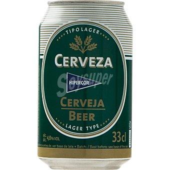 Hipercor Cerveza rubia nacional lata 33 cl Lata 33 cl