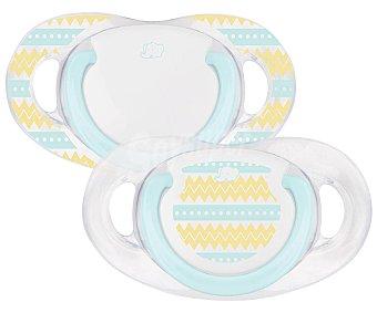 Bébé Confort Set de 2 chupetes dentales de silicona, 18-36M, bebé confort