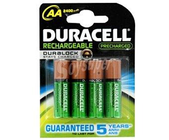 Duracell Pilas recargables AA HR6 listas para uso Pack de 4 Unidades