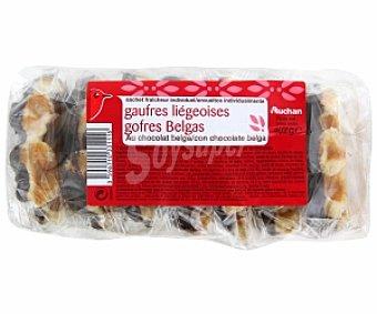 Auchan Gofres Belgas con chocolate 7 Unidades 402 Gramos