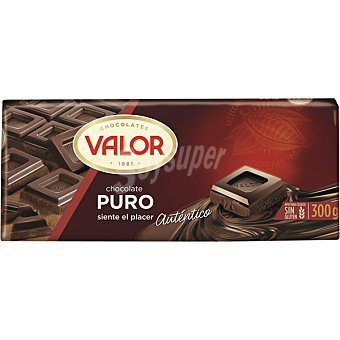 Valor Chocolate puro Tableta 300 g