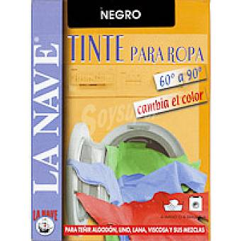 La Nave Tinte ropa negro Pack 2x20 g