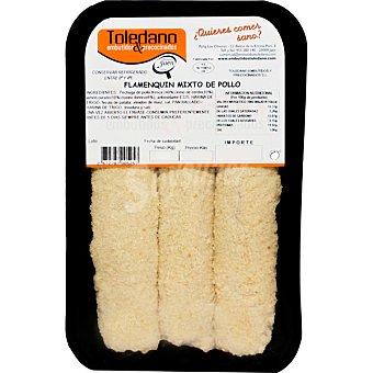 Toledano Flamenquines mixtos de pollo peso aproximado bandeja 500 g bandeja 500 g