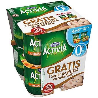 Activia Danone Activia 0% con kiwi-melocotón Pack 8x125 g