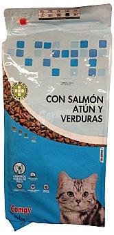 Compy Comida gato croquetas salmón, atún y verduras PAQUETE 7 kg